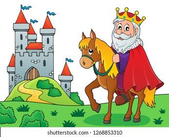 King on horse theme image 4 - eps10 vector illustration.