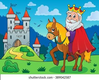 King on horse theme image 3 - eps10 vector illustration.