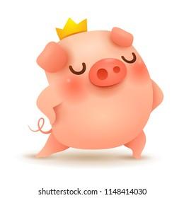 The King Pig. Chinese New Year. The year of the pig.