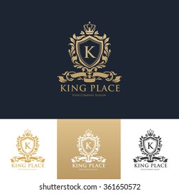 King place Luxury Hotel Logo Template