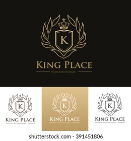 King Place Luxury Logo template