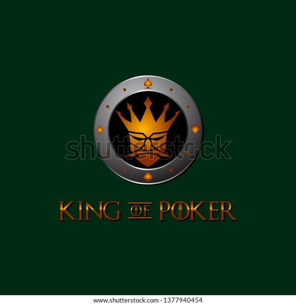 King Poker Logo Design Template Gambling Stock Vector Royalty Free 1377940454