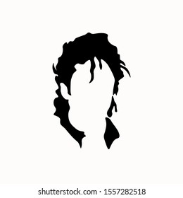 King of pop michael jackson face vector illustration isolated in white background. King of pop music. Superstar icon. The musical idol of the world. Vector illustration
