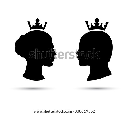 99978c9cd08 King Queen Heads King Queen Face Stock Vector (Royalty Free ...