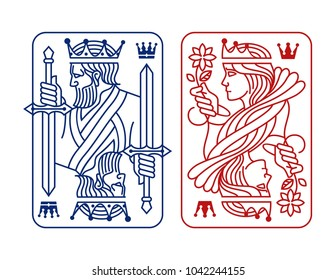 King and queen Playing Card