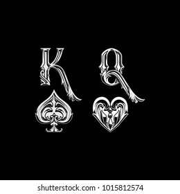 King And Queen Poker Card Sign
