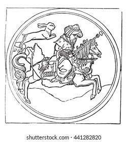 King Rabbit, or Quadrupede, vintage engraved illustration. Magasin Pittoresque 1836.