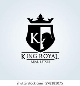 King Royal Real Estate Logo Template
