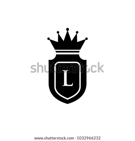King Royalcrown L Letter Logo Black Stock Vector Royalty Free