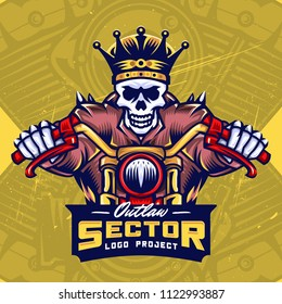 King Skull Bikers Esport Logo Design