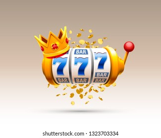 King slots 777 banner casino on the white background. Vector illustration