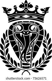 king of snakes. stencil. vector illustration