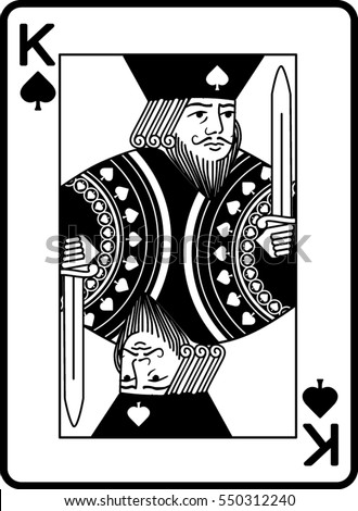 King Spades Stock Vector Royalty Free 550312240 Shutterstock