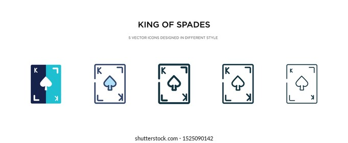 king of spades icon in different style vector illustration. two colored and black king of spades vector icons designed in filled, outline, line and stroke style can be used for web, mobile, ui