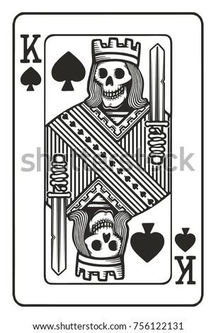 King Spades Skull Stock Vector Royalty Free 756122131 Shutterstock