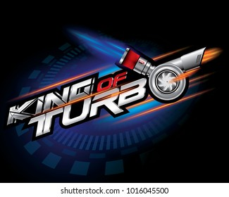 KING of TURBO ICON CONCEPT VECTOR