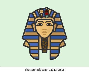 King Tutankhamun Burial Mask Illustration