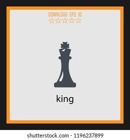 king  vector icon