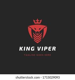 King Viper Logo Template Design