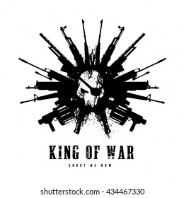 King of war logo template
