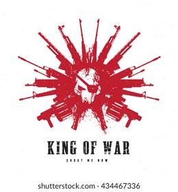 King of war logo template