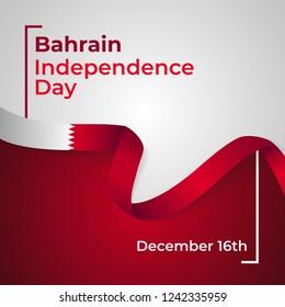 Kingdom of Bahrain Independence Day Vector Template Design Illustration