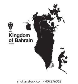 Kingdom of Bahrain map regions