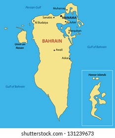 Kingdom of Bahrain - vector map