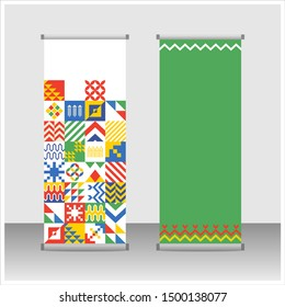 Kingdom of Saudi Arabia 89 National Day. September 23. 2019. Passion to Reach the Top (translated). Stand Banner Template Vector.
