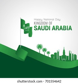 Kingdom of Saudi Arabia National day, Vector illustration