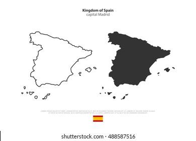 Spain Map Outline Images Stock Photos Vectors Shutterstock