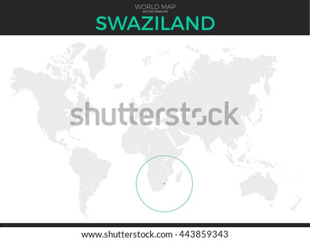 Kingdom Swaziland Location Modern Detailed Vector Stock Vector ...