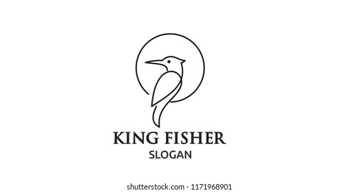kingfisher line logo icon designs
