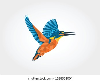 KingFisher Low Poly Icon ideal for logistics, supply chains, investment, sustainable energy.