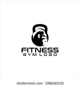 Kingkong  Gorilla Ape Fitness logo, GYM logo