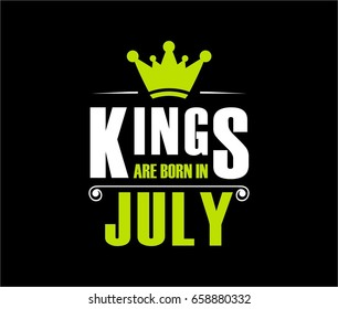 Kings are born in july. Vector