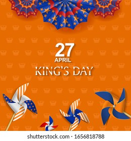 King's Day Celebrate Vector Design - King's Birthday in the Netherlands.