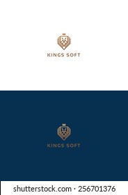 Kings lion group logo teamplate.