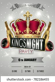 kings night party flyer background gray with lights and stars (noche de reyes)