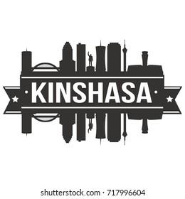 Kinshasa Skyline Silhouette City Vector Design Art