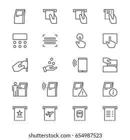 Kiosk flat icons