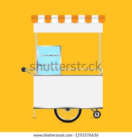 Kiosk White Template Blank Kiosk Wheels Stock Vector Royalty Free