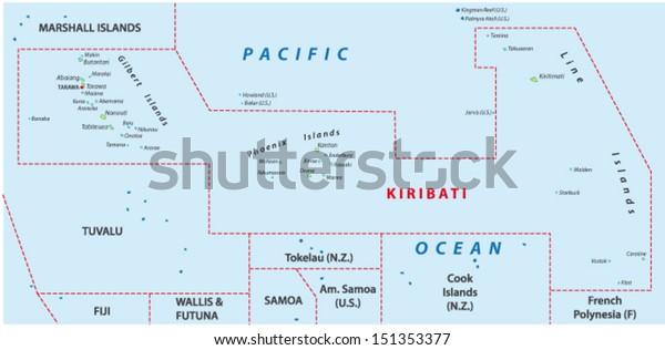 Kiribati Map Stock Vector (Royalty Free) 151353377 on niue map, saint lucia map, christmas island, hawaiian islands map, wallis and futuna map, mayotte map, french polynesia, new caledonia map, kosovo map, tuvalu map, solomon islands, vanuatu map, micronesia map, phoenix islands map, eritrea map, solomon islands map, nauru map, american samoa, papua new guinea map, cook islands, marshall islands map, new caledonia, tokelau map, guadeloupe map, federated states of micronesia, malaysia map, oceania map, marshall islands,