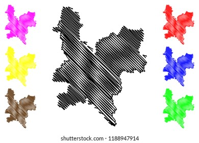 Kirov Oblast (Russia, Subjects of the Russian Federation, Oblasts of Russia) map vector illustration, scribble sketch Kirov Oblast map