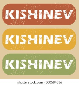 Kishinev on colored background