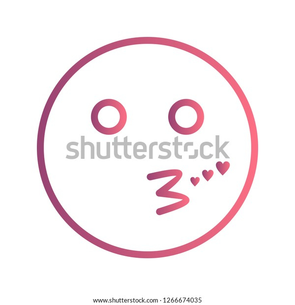Kiss Emoji Vector Icon Sign Icon Stock Vector (Royalty Free
