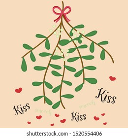 Kisses and smooches under the Mistletoe