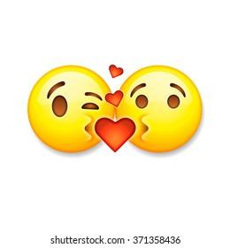 Kiss Emoji Images Stock Photos Vectors Shutterstock