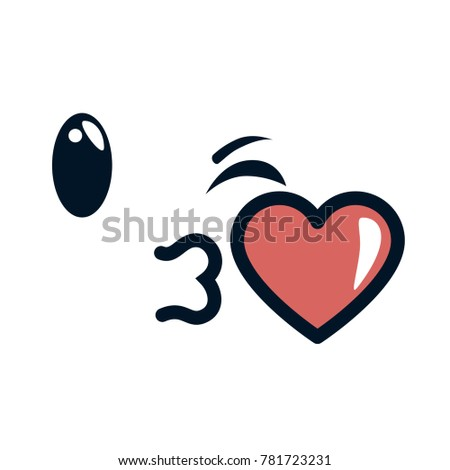 Kissing Face Emoji Character Stock Vector Royalty Free 781723231