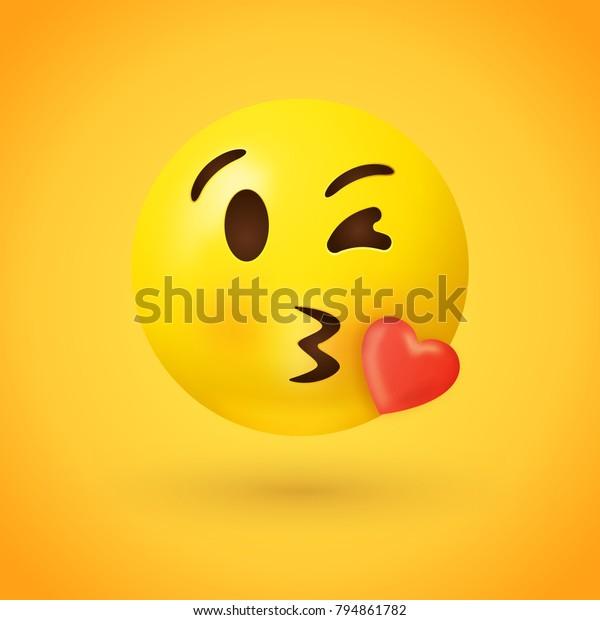 Herz mit zeichen smiley kuss roarhinindi: Kuss